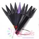 Espositore 40 tip nere stiletto a ventaglio con chiusura ad anello