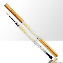 Pennello oro doppia punta: nail art e gel 6mm Allepaznokcie
