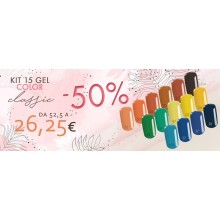 KIT CLASSIC: 15 gel color base one silcare