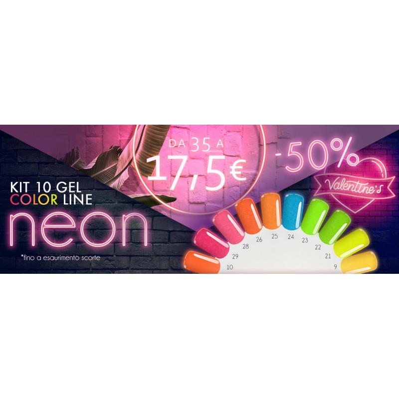 KIT NEON: 10 gel color silcare neon base one