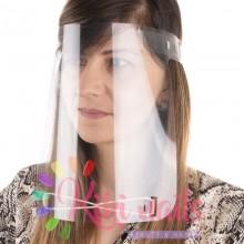 Visiera protettiva flessibile trasparente con elastici 1pz