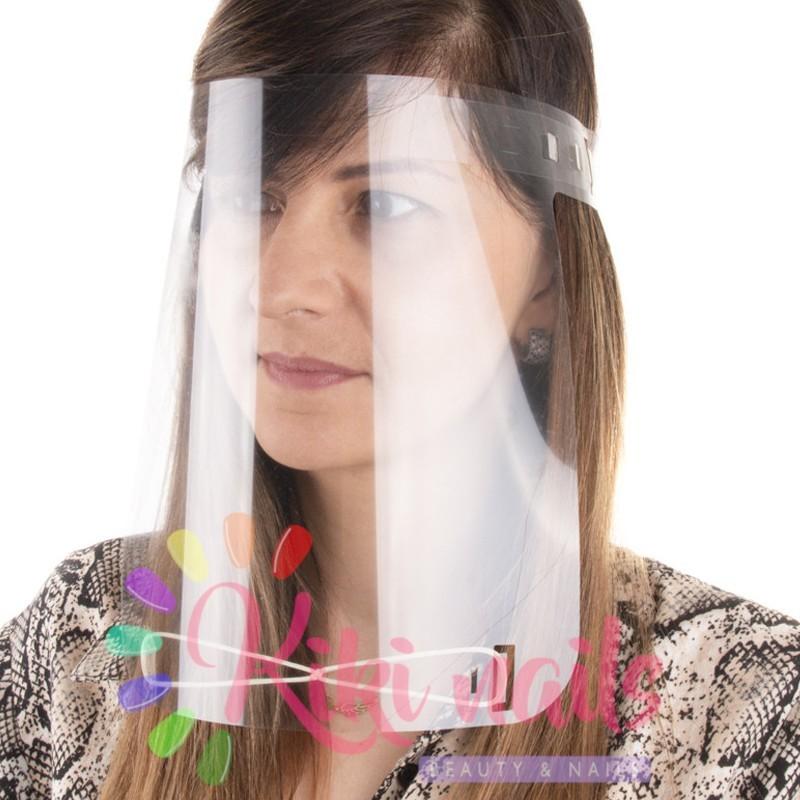 Visiera protettiva maschera trasparente con elastici 1pz
