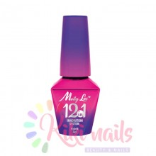 base 12in1 Mollylac CANDY PINK Allepaznokcie 10ml