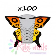 Cartine nail form Butterfly yellow 100 pz