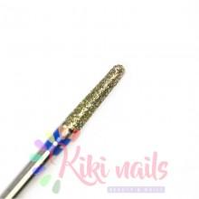Punta fresa cuticole, forma cono sottile mini, in diamante