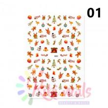 Stickers natalizi, adesivi grandi holo, CHRISTMAS NAIL DESIGN