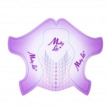 cartine nailform da salone rosa Allepaznokcie 100pz