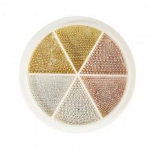 Ruota sfere caviar oro, argento, rose gold 15gr