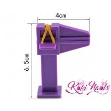 Morsetto curva C in plastica viola